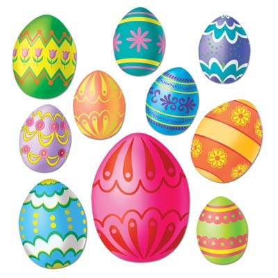 Happytime Novelty Co Easter Egg Cut Outs Pkt 10 44027