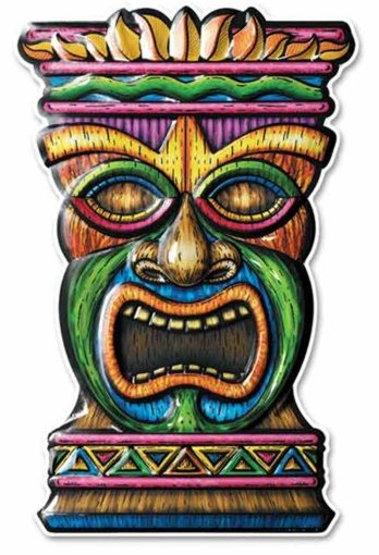 happytime novelty co tiki face art form 3d 18quot 55989
